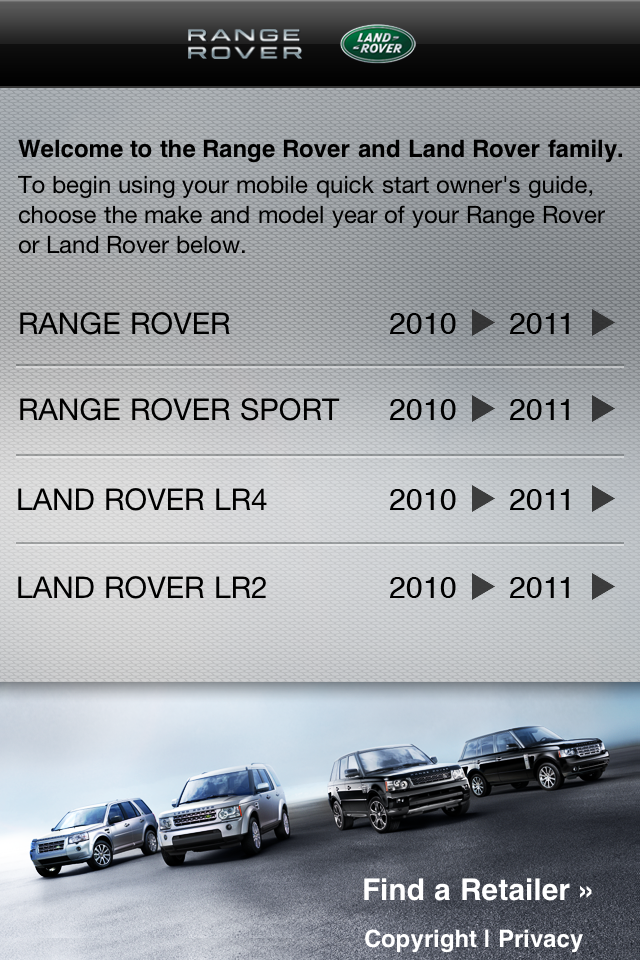 Land Rover - Owner's Mobile App